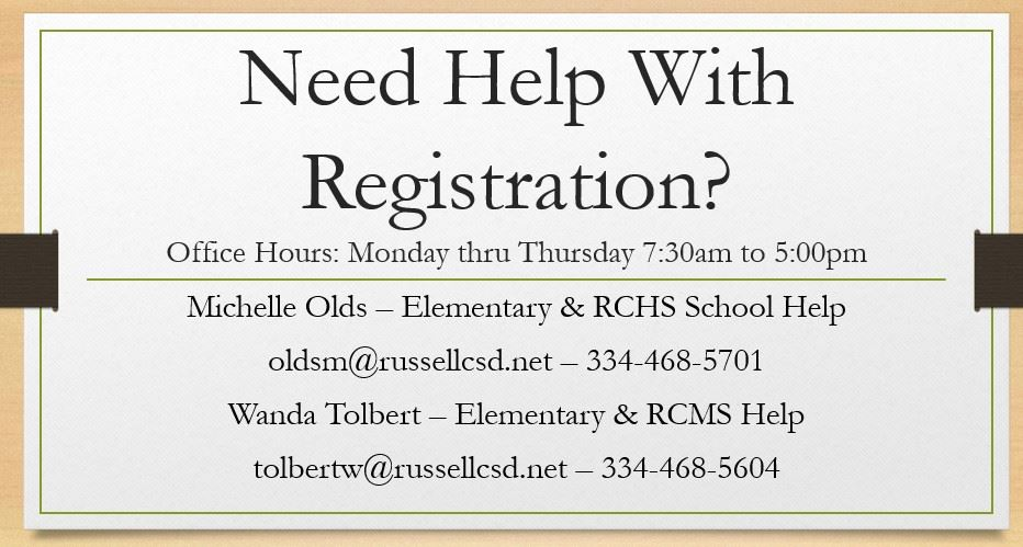 Registrars Contact Information